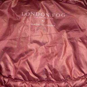 London Fog Jackets & Coats - Burgundy London Fog Puffer